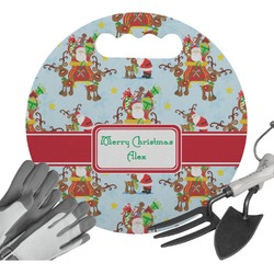 Santa on Sleigh Gardening Knee Cushion (Personalized)
