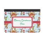 Santa on Sleigh Genuine Leather ID & Card Wallet - Slim Style (Personalized)