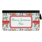 Santa on Sleigh Genuine Leather Ladies Zippered Wallet (Personalized)