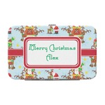Santa on Sleigh Genuine Leather Small Framed Wallet (Personalized)