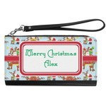 Santa on Sleigh Genuine Leather Smartphone Wrist Wallet (Personalized)