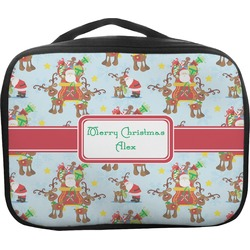 Santa on Sleigh Insulated Lunch Bag (Personalized)