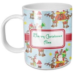 Santa on Sleigh Plastic Kids Mug (Personalized)