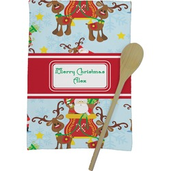 Santa on Sleigh Kitchen Towel - Full Print (Personalized)