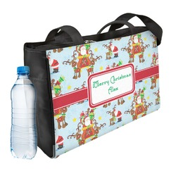 Santa on Sleigh Ladies Workout Bag (Personalized)