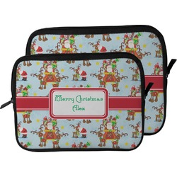 Santa on Sleigh Laptop Sleeve / Case (Personalized)