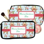 Santa on Sleigh Makeup / Cosmetic Bag (Personalized)