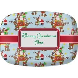 Santa on Sleigh Melamine Platter (Personalized)