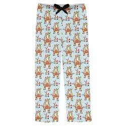Santa on Sleigh Mens Pajama Pants (Personalized)