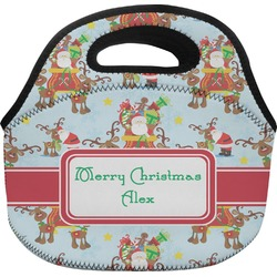 Santa on Sleigh Lunch Bag (Personalized)