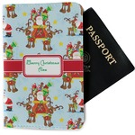 Santa on Sleigh Passport Holder (Personalized)