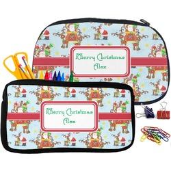 Santa on Sleigh Pencil / School Supplies Bag (Personalized)