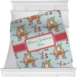 Santa on Sleigh Blanket (Personalized)