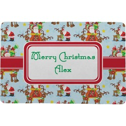Santa on Sleigh Comfort Mat (Personalized)