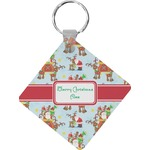 Santa on Sleigh Diamond Key Chain (Personalized)