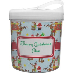 Santa on Sleigh Plastic Ice Bucket (Personalized)