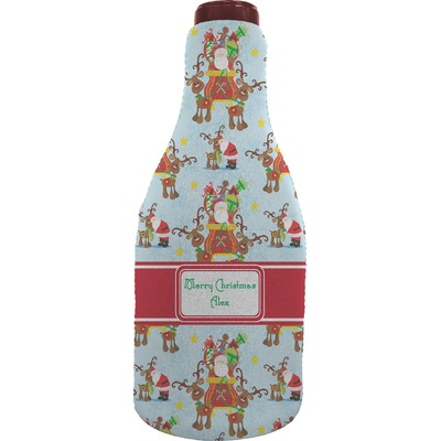 Santa On Sleigh Wine Sleeve Personalized Youcustomizeit
