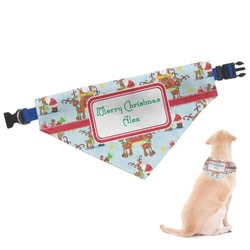 Santa on Sleigh Dog Bandana (Personalized)