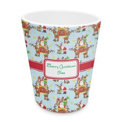 Santa on Sleigh Plastic Tumbler 6oz (Personalized)
