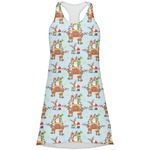 Santa on Sleigh Racerback Dress (Personalized)