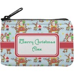 Santa on Sleigh Rectangular Coin Purse (Personalized)