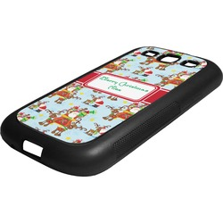 Santa on Sleigh Rubber Samsung Galaxy 3 Phone Case (Personalized)