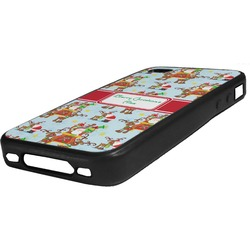 Santa on Sleigh Rubber iPhone Case 4/4S (Personalized)