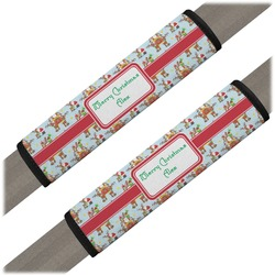 Santa on Sleigh Seat Belt Covers (Set of 2) (Personalized)