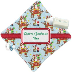 Santa on Sleigh Security Blanket (Personalized)