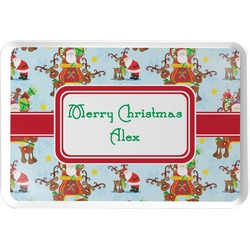 Santa on Sleigh Serving Tray (Personalized)