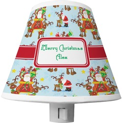 Santa on Sleigh Shade Night Light (Personalized)
