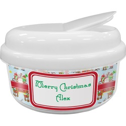 Santa on Sleigh Snack Container (Personalized)