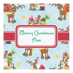 Santa on Sleigh Square Decal - Custom Size (Personalized)
