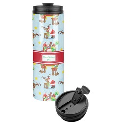 Santa on Sleigh Stainless Steel Tumbler (Personalized)