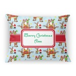 Santa on Sleigh Rectangular Throw Pillow (Personalized)