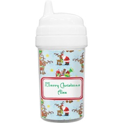 Santa on Sleigh Toddler Sippy Cup (Personalized)