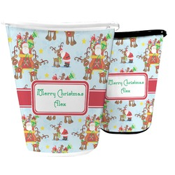 Santa on Sleigh Waste Basket (Personalized)