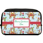 Santa on Sleigh Toiletry Bag / Dopp Kit (Personalized)