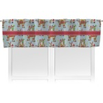 Santa on Sleigh Valance (Personalized)