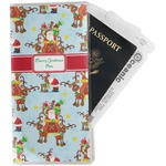 Santa on Sleigh Travel Document Holder