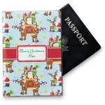Santa on Sleigh Vinyl Passport Holder (Personalized)