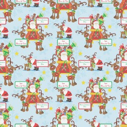 Santa on Sleigh Wrapping Paper (Personalized)