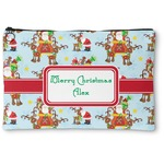 Santa on Sleigh Zipper Pouch (Personalized)
