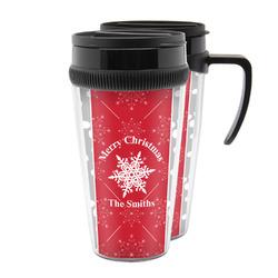 Snowflakes Acrylic Travel Mugs (Personalized)