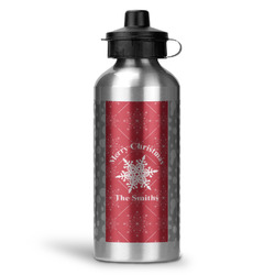 Snowflakes Water Bottle - Aluminum - 20 oz (Personalized)