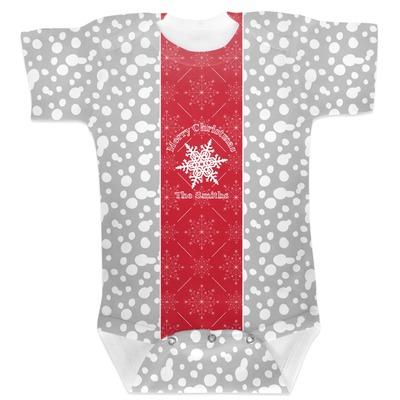 Snowflakes Baby Bodysuit 6-12 (Personalized)