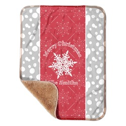 """Snowflakes Sherpa Baby Blanket 30"""" x 40"""" (Personalized)"""