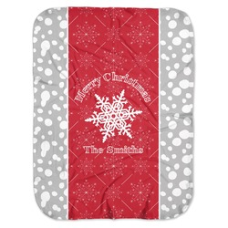 Snowflakes Baby Swaddling Blanket (Personalized)