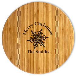 Snowflakes Bamboo Cutting Board (Personalized)