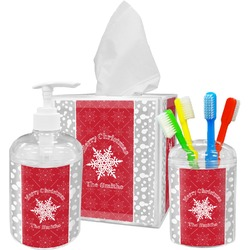 Snowflakes Bathroom Accessories Set (Personalized)